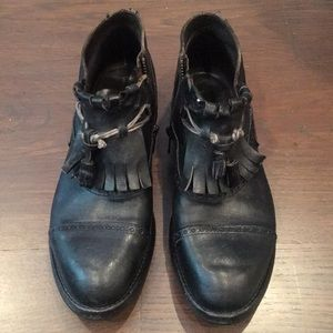 Leather Booties - worn once